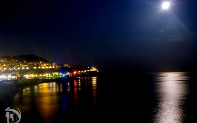France - Nice coast at night