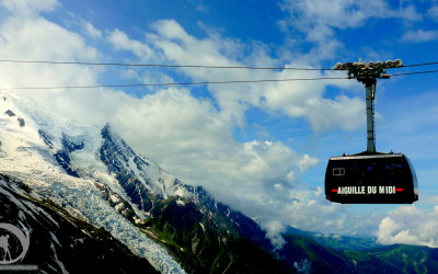 France, Alps, cable car