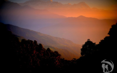 Nepal - trekking, sunset