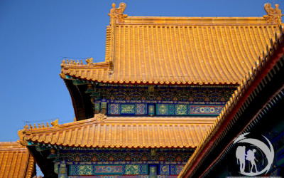 Beijing Forbidden City - details of temple