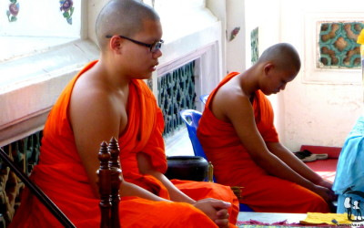 Thailand. Bangkok. Monks