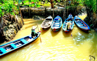 Vietnam. The Mekong Delta. Small boats