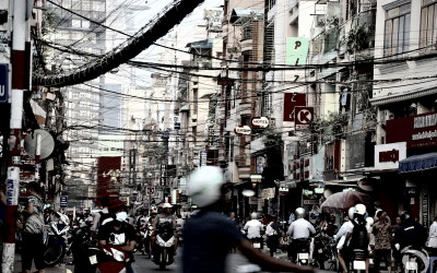 Vietnam. Ho Chi Minh City. One of the streets