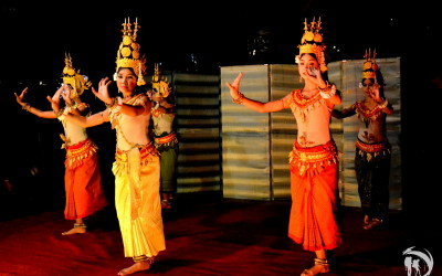 Cambodia. Siem Reap. Local performance